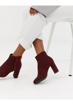 New Look heeled chelsea boot in dark red - Dark red
