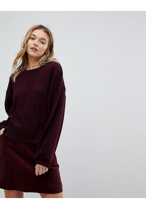 New Look Balloon Sleeve Knit - Burgundy