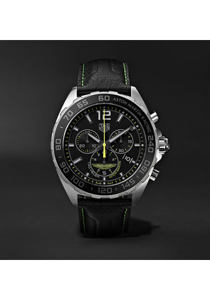 Formula 1 Limited Edition Aston Martin Quartz Chronograph 43mm Stainless Steel And Leather Watch