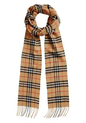 Burberry vintage check long cashmere scarf - Brown