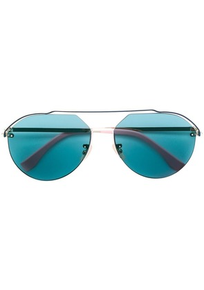Fendi Eyewear tinted aviator sunglasses - Blue