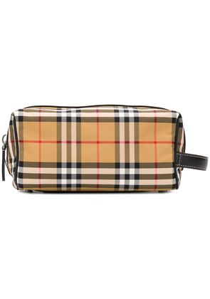 Burberry checked washbag - Yellow