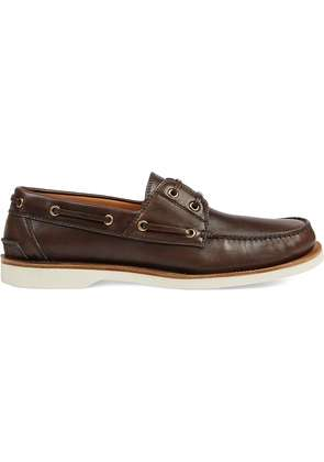 Gucci Leather loafer with Web - Brown