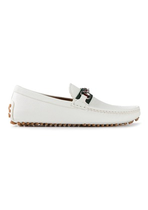 Gucci classic driving shoes - White
