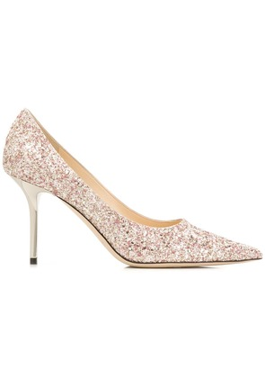 Jimmy Choo glitter embellished pumps - Pink