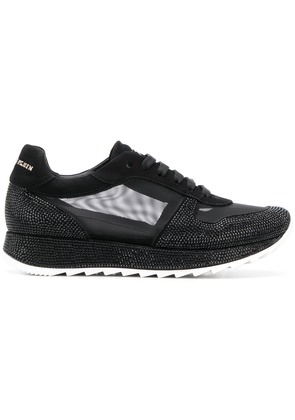 Philipp Plein mesh panel lace-up sneakers - Black