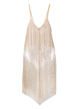 Loulou sequinned cocktail mini dress - Neutrals