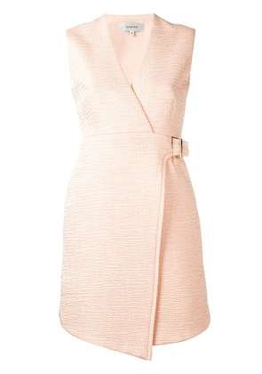 Carven wrapped flared dress - Pink