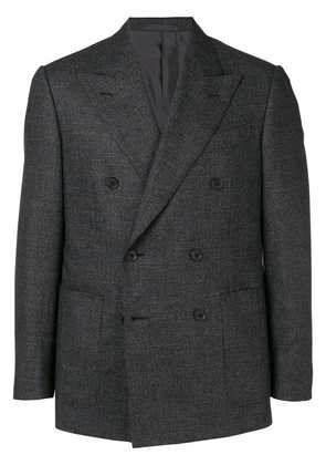 Caruso double-breasted fitted blazer - Grey