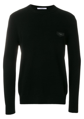 Givenchy logo patch sweater - Black