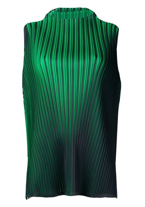 Pleats Please By Issey Miyake micro pleated blouse - Green