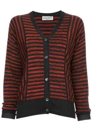 Sonia Rykiel striped cardigan - Red