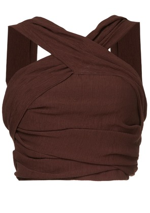 C & M cropped top - Brown