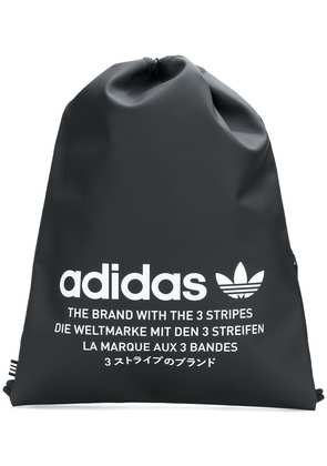 Adidas logo print drawstring backpack - Black