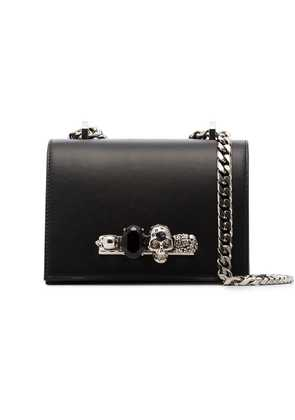 Alexander McQueen black Shaped cross body bag with chain