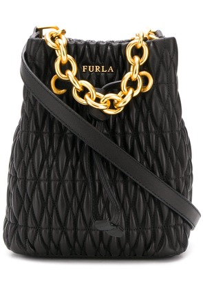 Furla Stasy quilted bucket bag - Black