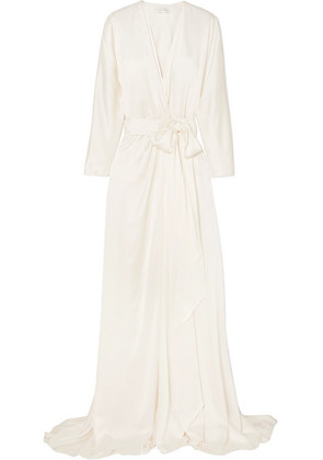 Jenny Packham - Aster Satin-crepe Wrap Gown - Ivory