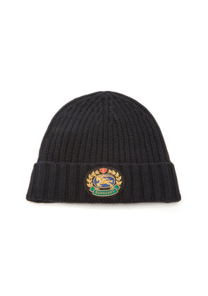 Burberry Embroidered Wool and Cashmere-Blend Beanie