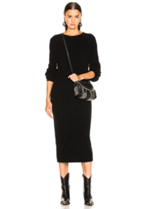 AG Adriano Goldschmied Quaid Raglan Dress in Black