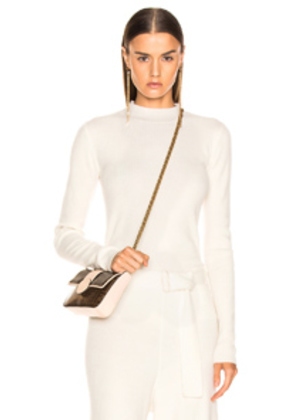 AG Adriano Goldschmied Quinton Mock Neck Knit in White