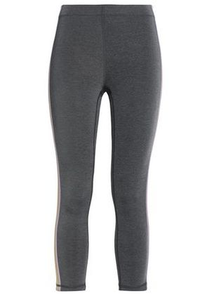 Purity Active Woman Cropped Striped Stretch Leggings Anthracite Size S