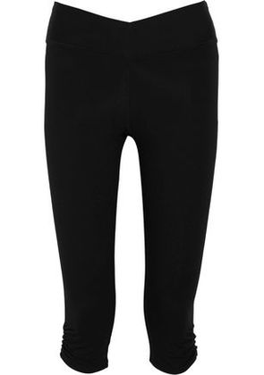 Yummie By Heather Thomson Woman Candace Cropped Stretch-cotton Leggings Black Size XS