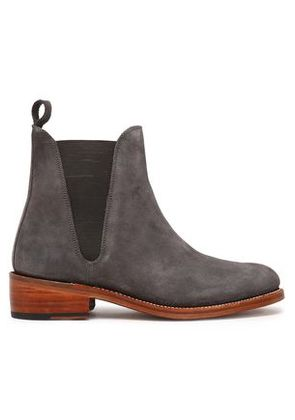 Grenson Woman Suede Ankle Boots Charcoal Size 3