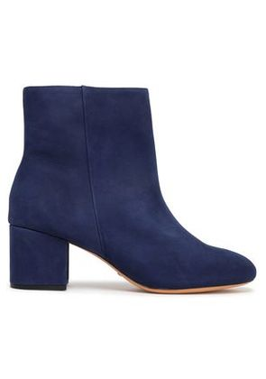Schutz Woman Suede Ankle Boots Midnight Blue Size 6