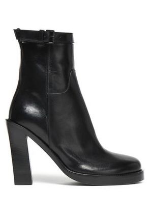 Ann Demeulemeester Woman Glossed-leather Platform Ankle Boots Black Size 37