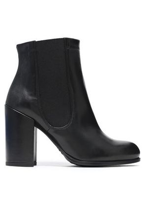 Stuart Weitzman Woman Leather Ankle Boots Black Size 41.5