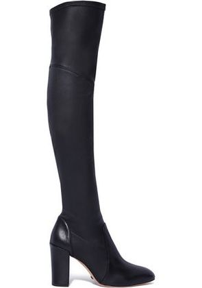 Schutz Woman Leather Over-the-knee Boots Black Size 9