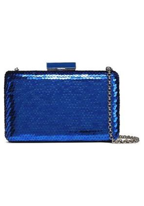 Oscar De La Renta Woman Rogan Sequined Acrylic Clutch Bright Blue Size -