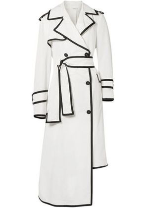 Thom Browne Woman Shell Trench Coat White Size 44