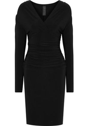 Norma Kamali Woman Ruched Stretch-jersey Dress Black Size S