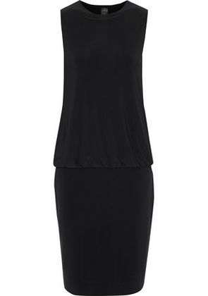 Norma Kamali Woman Gathered Stretch-knit Dress Black Size XS