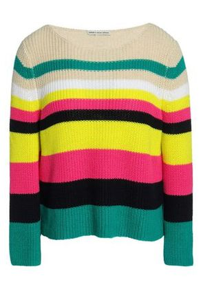 Autumn Cashmere Woman Striped Ribbed-knit Cotton Sweater Multicolor Size S