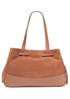 Halston Heritage Woman Suede And Textured-leather Tote Tan Size -