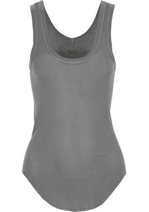 Enza Costa Woman Ribbed Jersey Tank Anthracite Size XS