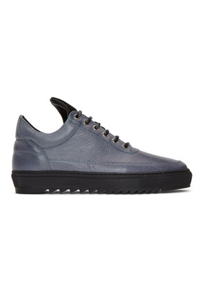 Filling Pieces Blue Thick Ripple Low Top Sneakers