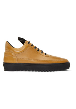 Filling Pieces Brown Thick Ripple Low Top Sneakers