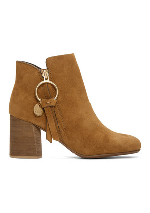 See by Chloé Tan O-Ring Louise Ankle Boots