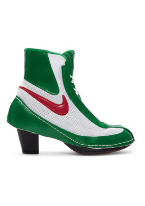 Comme des Garçons Green & White Nike Edition Heeled Boxing Boots