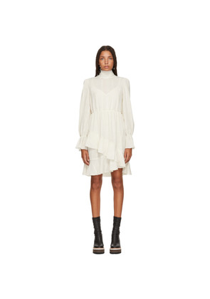 See by Chloé White Layered High-Neck Dress