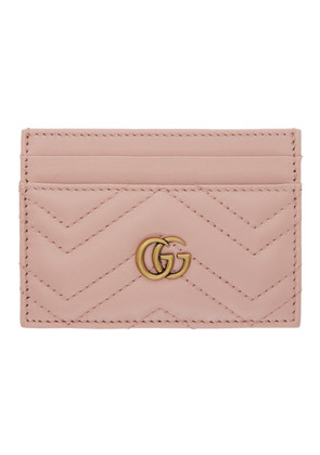 Gucci Pink GG Marmont 2.0 Card Holder