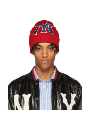Gucci Red New York Yankees Edition Patch Beanie