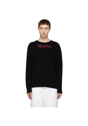 Adaptation Black Cashmere 'C.O.A.' Crewneck Sweater