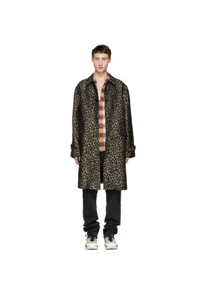 Adaptation Black & Beige Leopard Vintage Trench Coat
