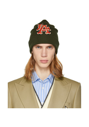 Gucci Green LA Dodgers Edition Patch Beanie