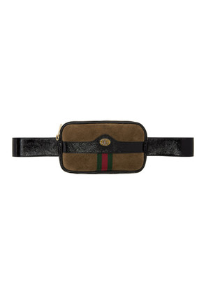Gucci Brown Suede Ophidia Belt Bag