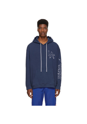 Adaptation Navy Embroidered Logo Hoodie